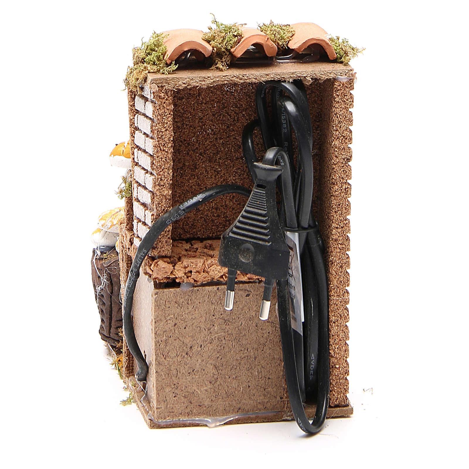 Tienda del pan 10 cm, escena en movimiento para belén 3