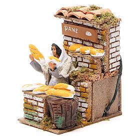 Animated nativity figurine 10cm bread stall s2