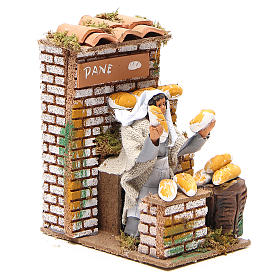 Animated nativity figurine 10cm bread stall s3