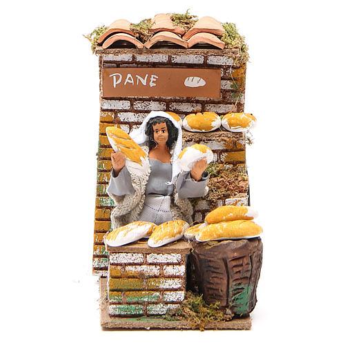 Animated nativity figurine 10cm bread stall 1