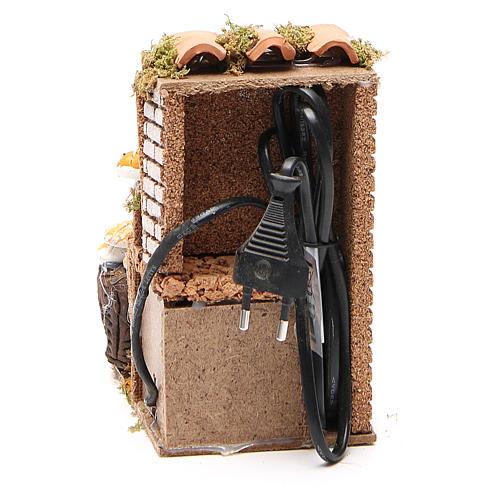 Animated nativity figurine 10cm bread stall 4