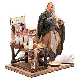 Milk seller with stall, animated Neapolitan Nativity figurine 14cm s3