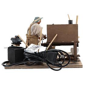Hoe fixer with desk 12cm neapolitan animated Nativity s6