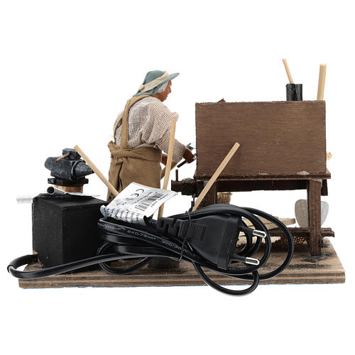 Hoe fixer with desk 12cm neapolitan animated Nativity 6