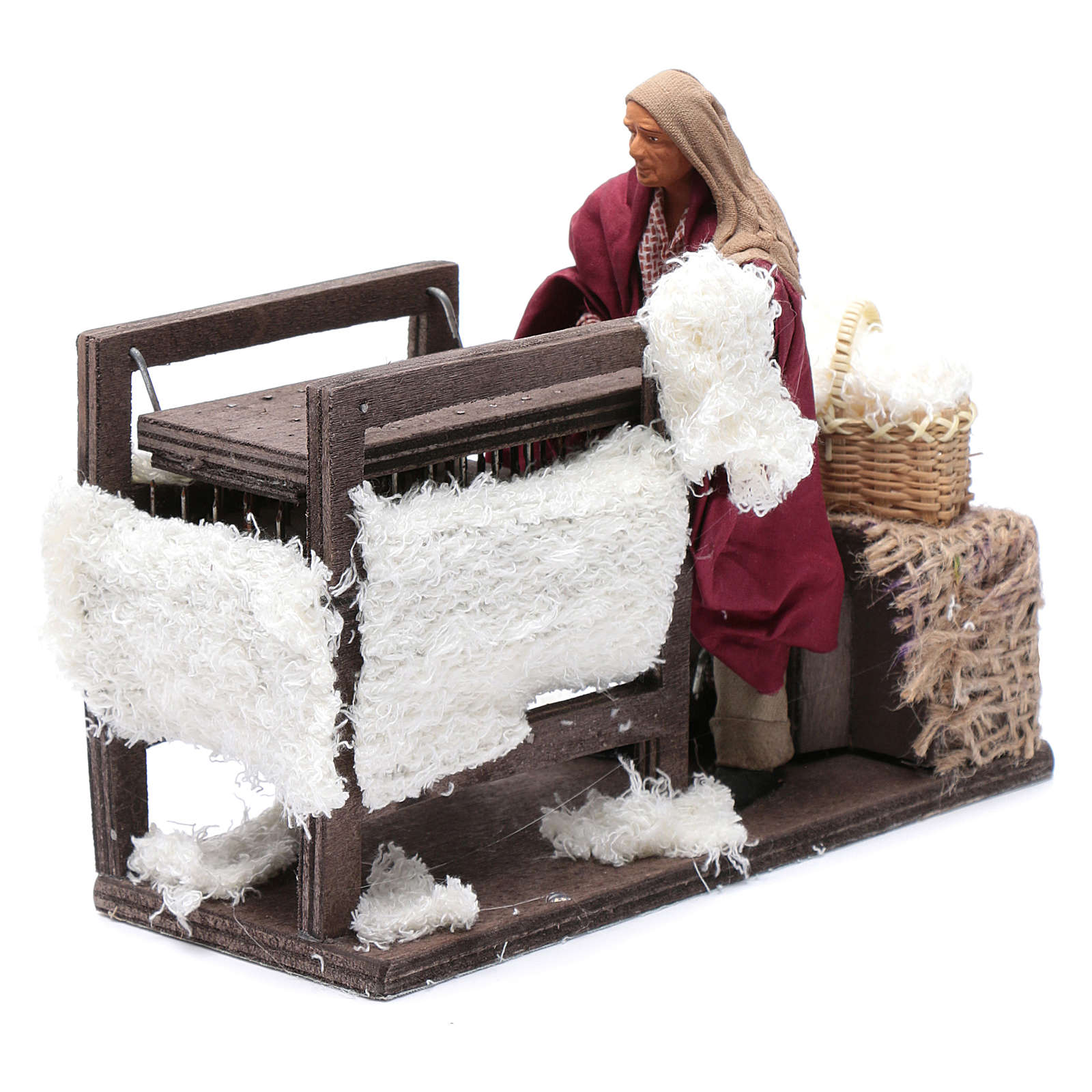 Animated wool teaser scene 14cm neapolitan Nativity 4