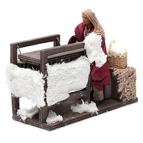 Animated wool teaser scene 14cm neapolitan Nativity s1