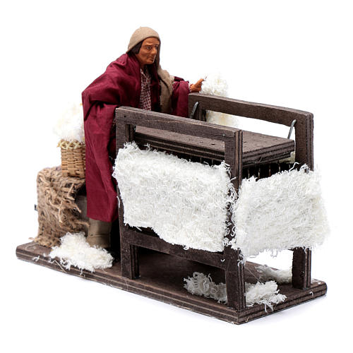 Animated wool teaser scene 14cm neapolitan Nativity 2
