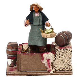 Neapolitan Nativity Scene: Man squeezing Grapes 12cm neapolitan animated Nativity