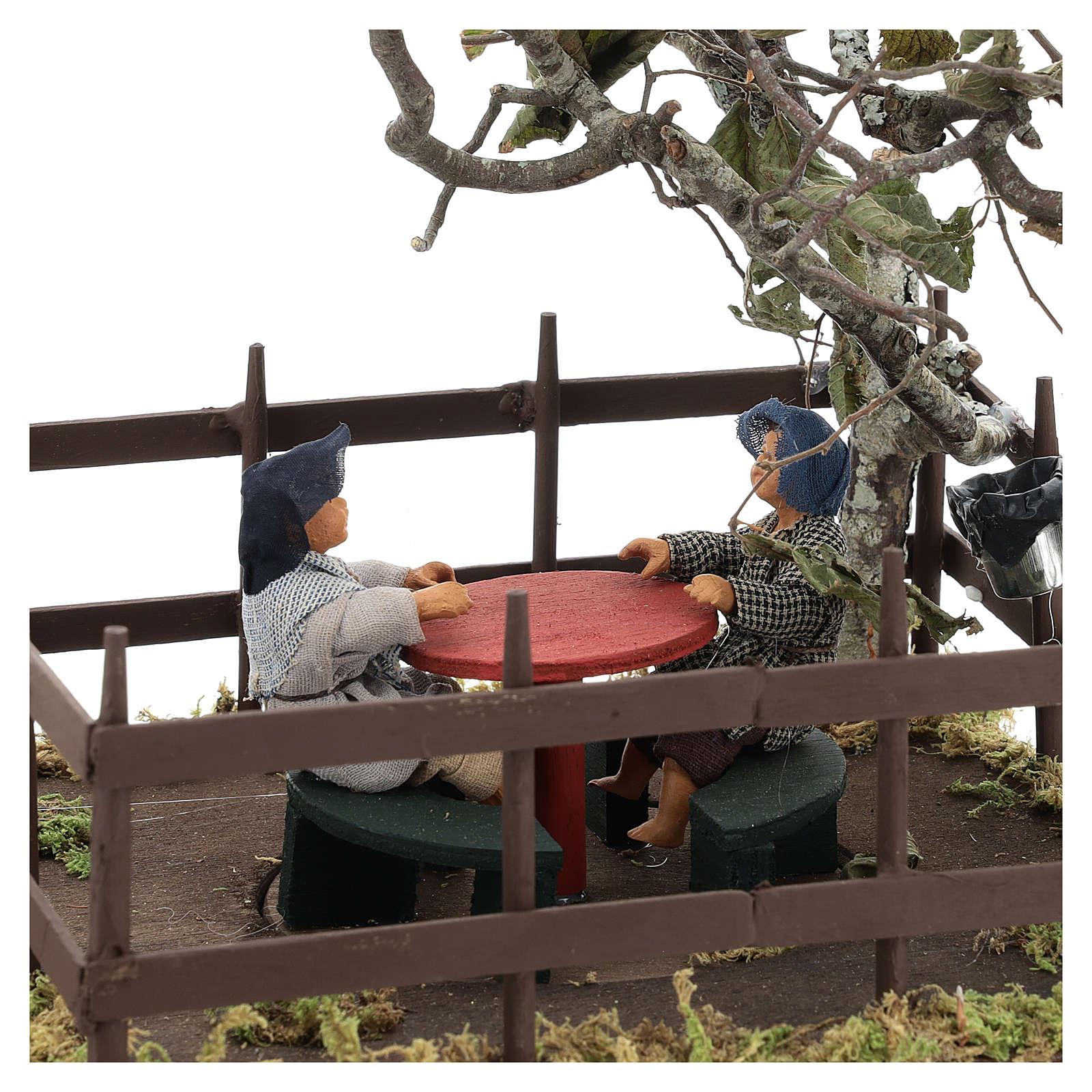 Carrousel avec 2 enfants 14 cm crèche Naples 4
