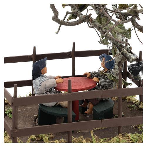 Carrousel avec 2 enfants 14 cm crèche Naples 2