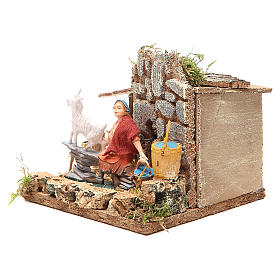 STOCK animated nativity figurine 10cm shepherd and sheep s2