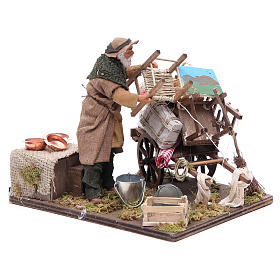 Cart of the evicted for animated Neapolitan Nativity, 14cm s3