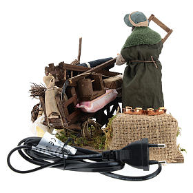 Cart of the evicted for animated Neapolitan Nativity, 14cm s9