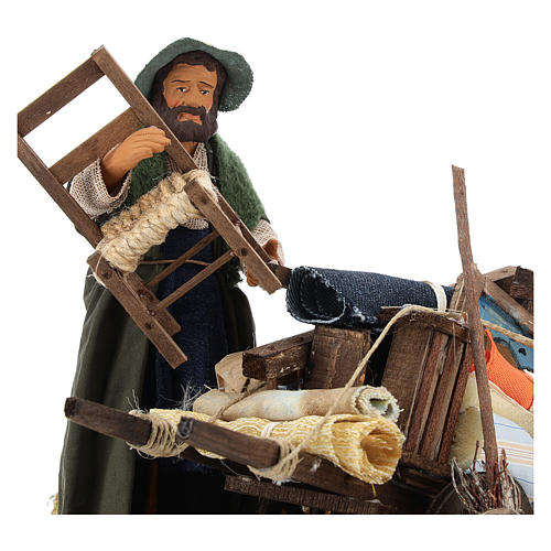 Cart of the evicted for animated Neapolitan Nativity, 14cm 6