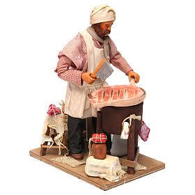 Butcher figurine for animated Neapolitan Nativity, 24cm s3