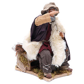 Animated Man looking in the distance figurine for Neapolitan Nativity, 24cm s3