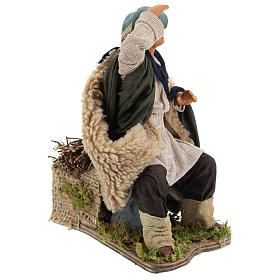 Animated Man looking in the distance figurine for Neapolitan Nativity, 24cm s4