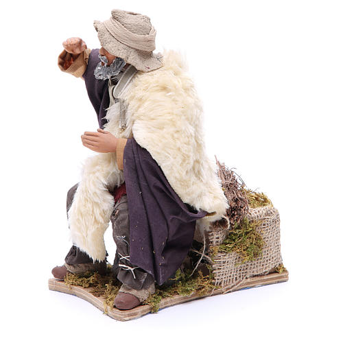 Animated Man looking in the distance figurine for Neapolitan Nativity, 24cm 2