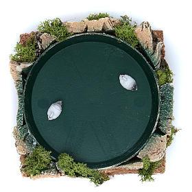 Jezioro z kaczkami figurka ruchoma 7x15x15 cm s2