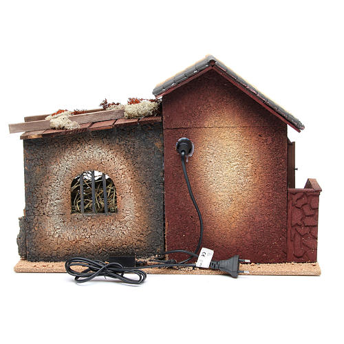 Woman working in the kitchen, animated nativity figurine, 12cm 5