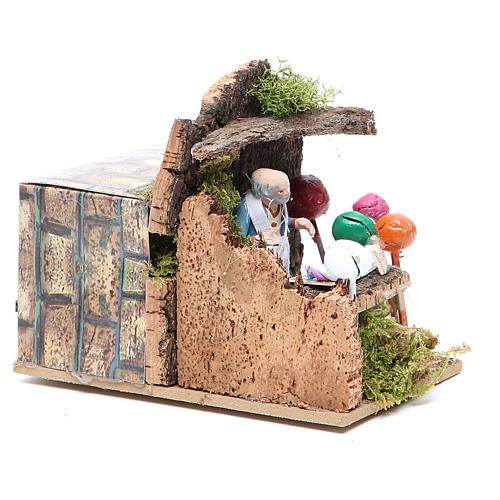 Man with balloons measuring 7cm, animated nativity figurine 3