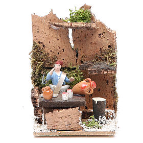 Man at the table measuring 4cm, animated nativity figurine s1