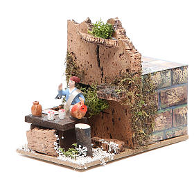Man at the table measuring 4cm, animated nativity figurine s2