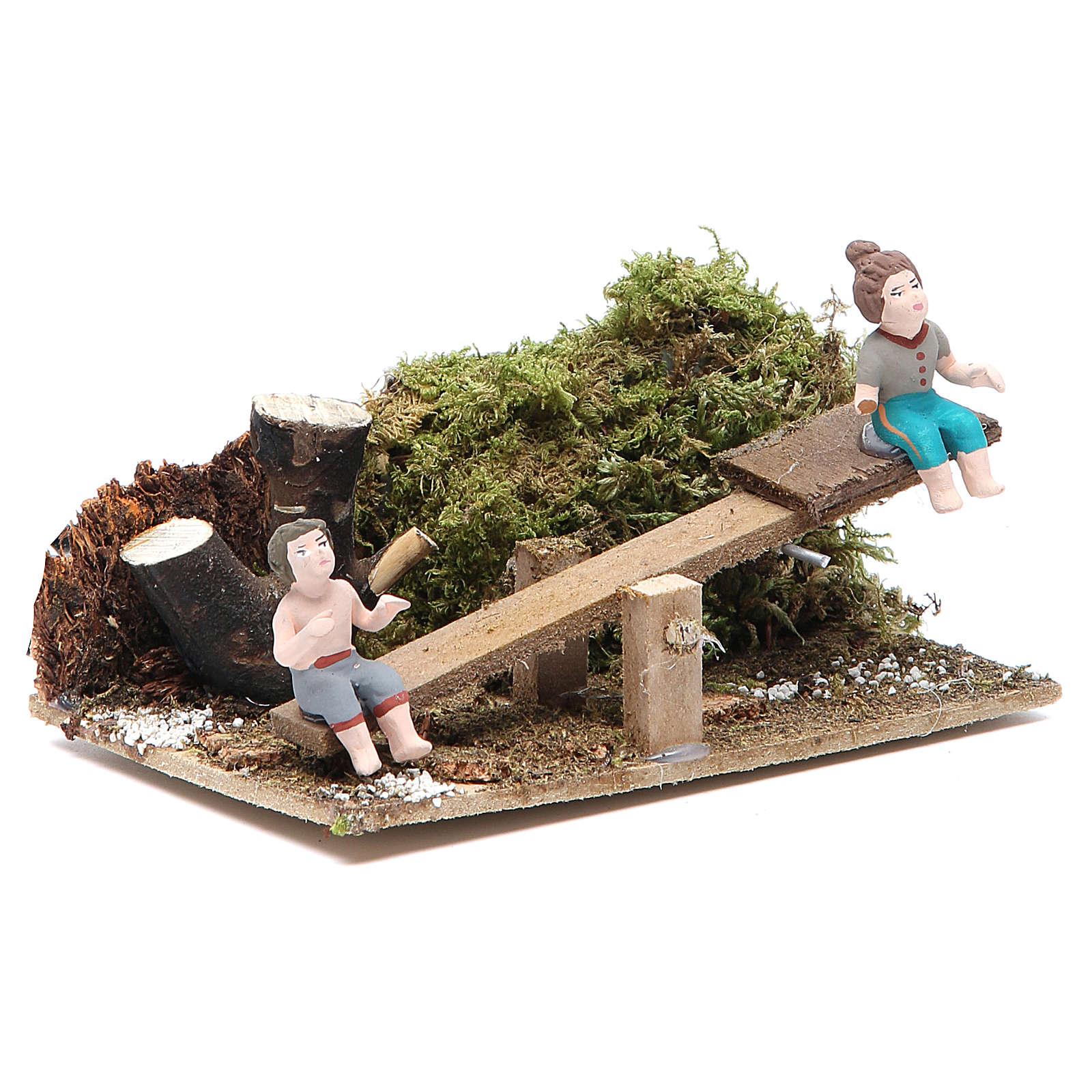 Garçon et fille 7 cm animation pour crèche 3