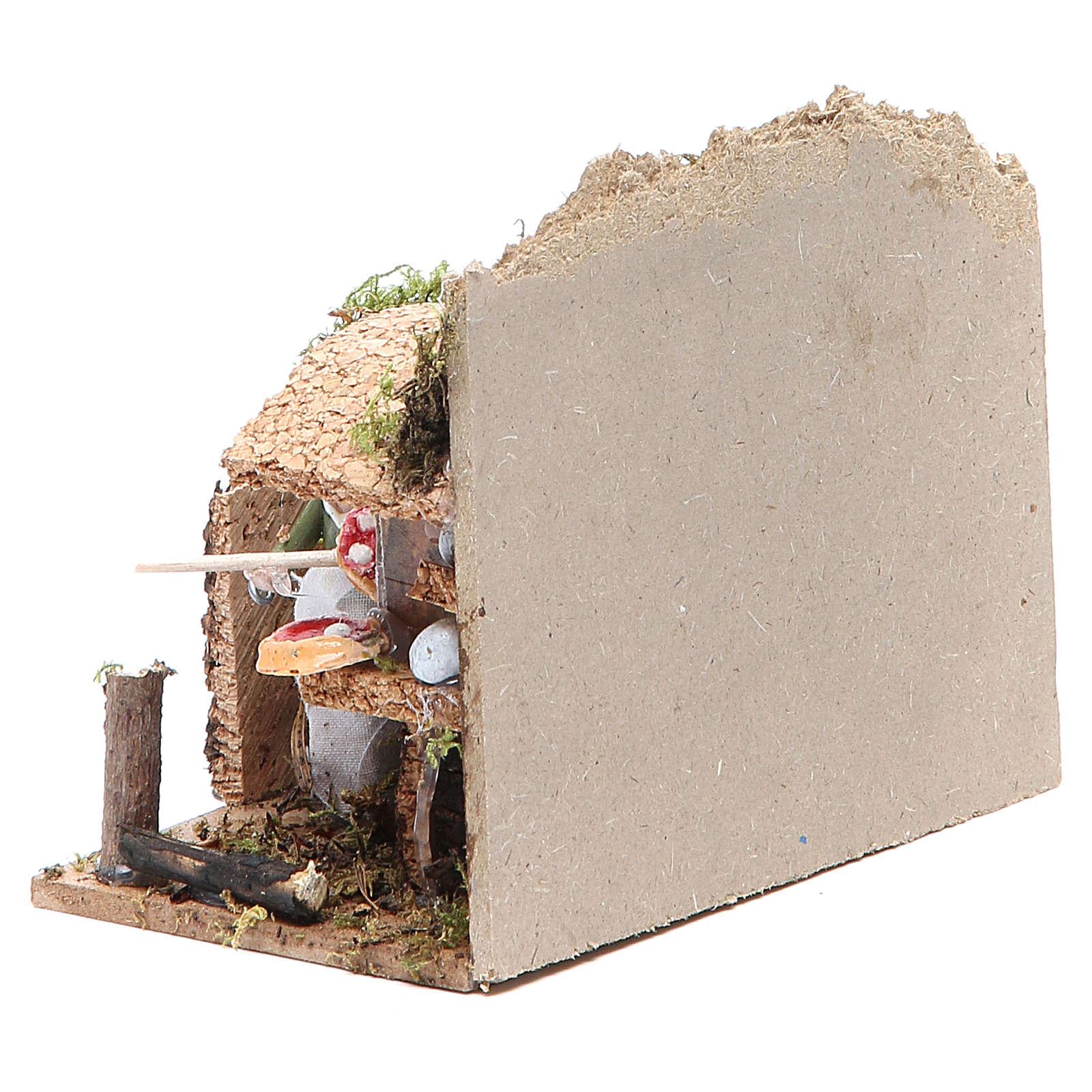 Bread seller measuring 4cm, animated nativity figurine 3