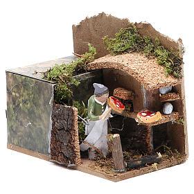 Bread seller measuring 4cm, animated nativity figurine s3