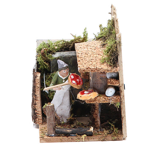 Bread seller measuring 4cm, animated nativity figurine 1