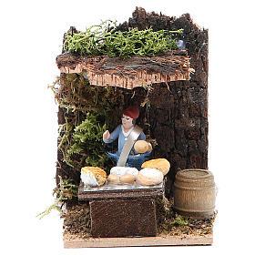 Cheese seller measuring 4cm, animated nativity figurine s1