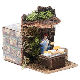 Cheese seller measuring 4cm, animated nativity figurine s3