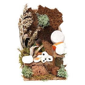 Cheese seller measuring 4cm, animated nativity figurine s5