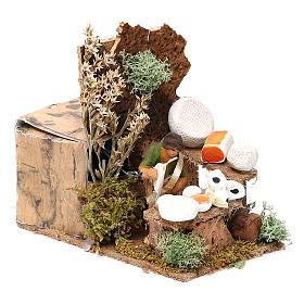 Cheese seller measuring 4cm, animated nativity figurine s7