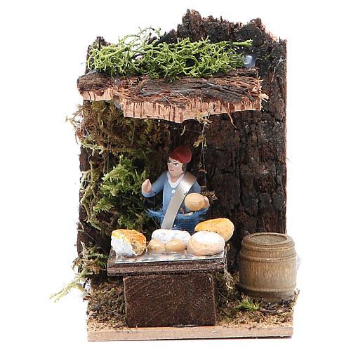 Cheese seller measuring 4cm, animated nativity figurine 1