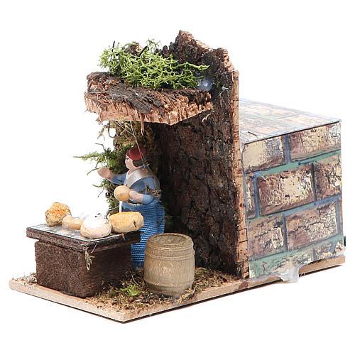 Cheese seller measuring 4cm, animated nativity figurine 2