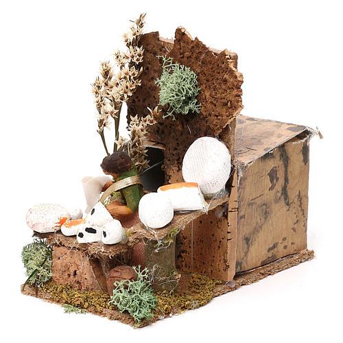 Cheese seller measuring 4cm, animated nativity figurine 6