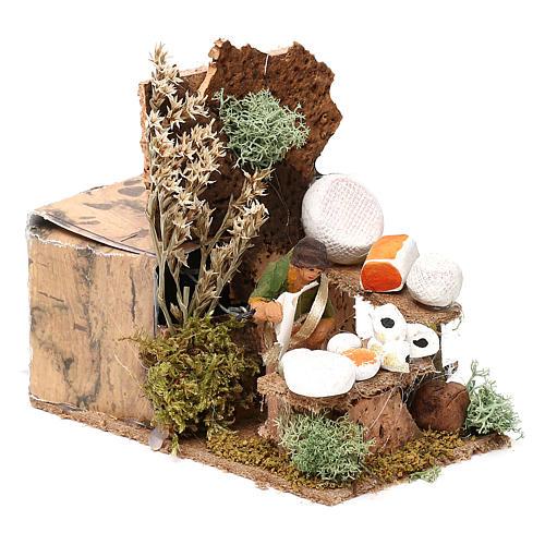 Cheese seller measuring 4cm, animated nativity figurine 7