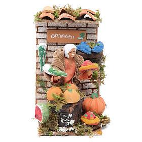 Movimento presépio 10 cm loja com hortaliças s1