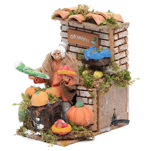 Vegetables stall measuring 10cm, animated nativity figurine 2