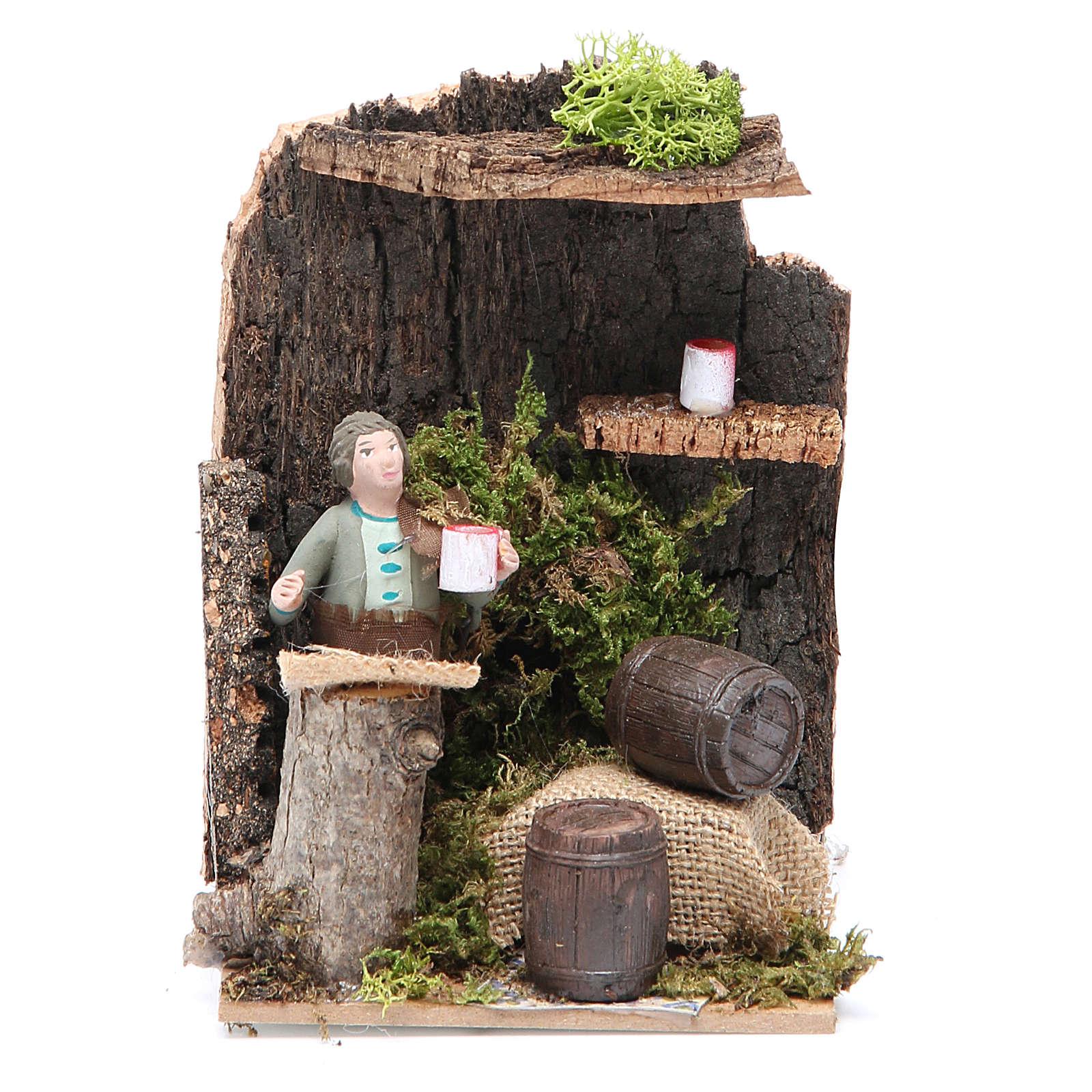 Marchand de vin 7 cm animation crèche 3