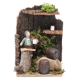 Marchand de vin 7 cm animation crèche s1