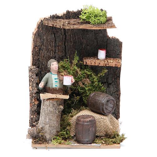 Marchand de vin 7 cm animation crèche 1
