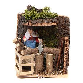 Woodsman measuring 7cm, animated nativity figurine s5