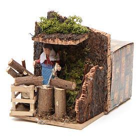 Woodsman measuring 7cm, animated nativity figurine s6