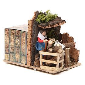 Woodsman measuring 7cm, animated nativity figurine s7