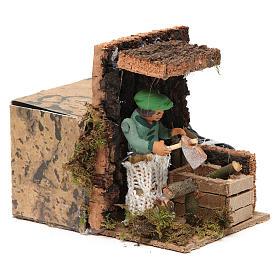 Woodsman measuring 7cm, animated nativity figurine s3