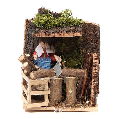 Woodsman measuring 7cm, animated nativity figurine 5