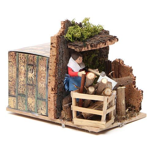 Woodsman measuring 7cm, animated nativity figurine 7